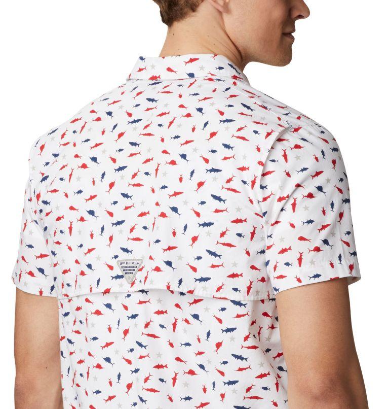 Trollers Best™ SS Shirt | 116 | L Men's PFG Trollers Best™ Short Sleeve Shirt, White Americana Print, a2