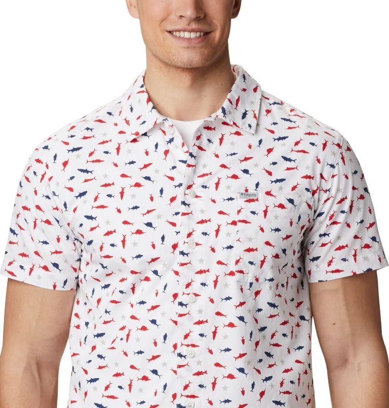 Trollers Best™ SS Shirt | 116 | L Men's PFG Trollers Best™ Short Sleeve Shirt, White Americana Print, a3