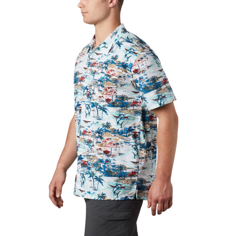 Trollers Best™ SS Shirt | 214 | XS Men's PFG Trollers Best™ Short Sleeve Shirt, Beach Billfish BBQ Print, a1