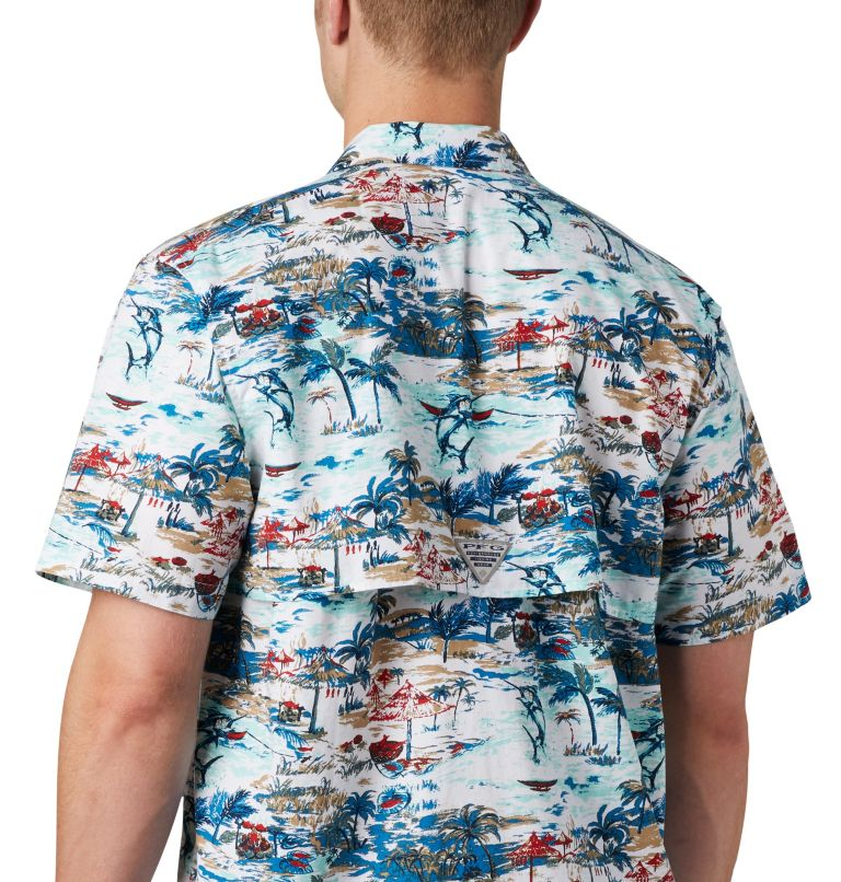 Trollers Best™ SS Shirt | 214 | XS Men's PFG Trollers Best™ Short Sleeve Shirt, Beach Billfish BBQ Print, a2