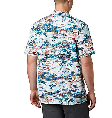 Men's PFG Trollers Best™ Short Sleeve Shirt Trollers Best™ SS Shirt | 704 | XL, Beach Billfish BBQ Print, back