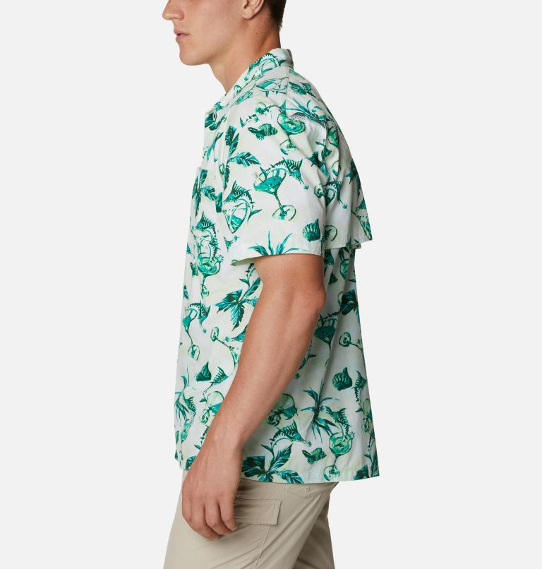 Trollers Best™ SS Shirt | 313 | L Men's PFG Trollers Best™ Short Sleeve Shirt, Light Lime Martini Marlin Print, a1