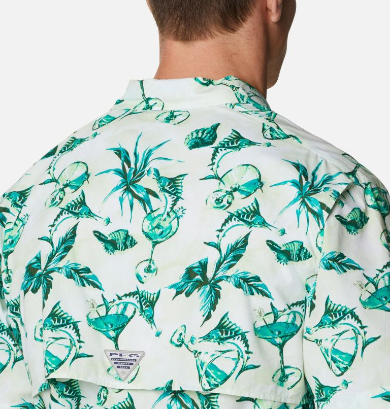 Trollers Best™ SS Shirt | 313 | L Men's PFG Trollers Best™ Short Sleeve Shirt, Light Lime Martini Marlin Print, a3