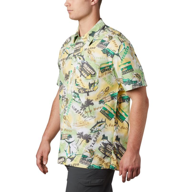 Trollers Best™ SS Shirt | 342 | XS Men's PFG Trollers Best™ Short Sleeve Shirt, Dark Lime Archive Print, a1
