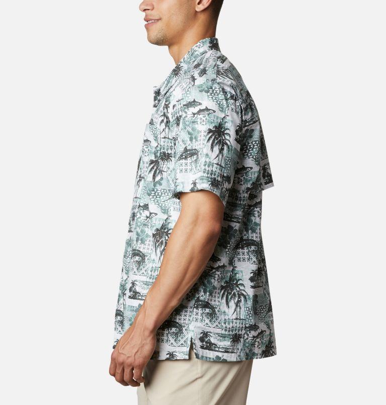 Trollers Best™ SS Shirt | 344 | XL Men's PFG Trollers Best™ Short Sleeve Shirt, Pond Polynesian Print, a1