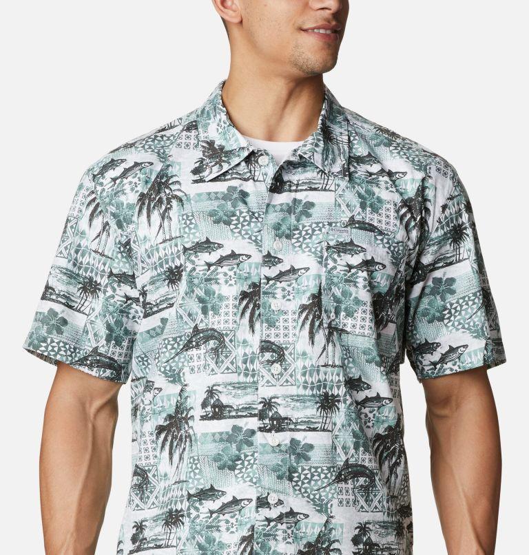 Trollers Best™ SS Shirt | 344 | XL Men's PFG Trollers Best™ Short Sleeve Shirt, Pond Polynesian Print, a2