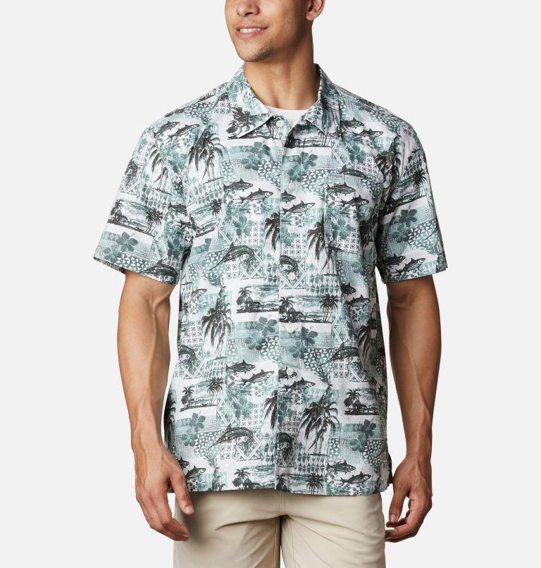 Trollers Best™ SS Shirt | 344 | XL Men's PFG Trollers Best™ Short Sleeve Shirt, Pond Polynesian Print, front