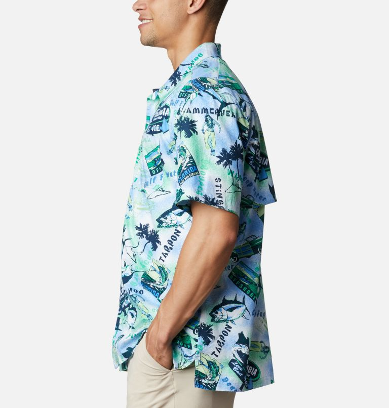 Trollers Best™ SS Shirt | 379 | XL Men's PFG Trollers Best™ Short Sleeve Shirt, Emerald Green Offshore Archive Print, a1