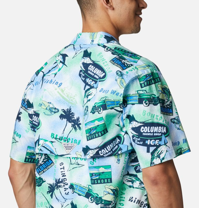 Trollers Best™ SS Shirt | 379 | XL Men's PFG Trollers Best™ Short Sleeve Shirt, Emerald Green Offshore Archive Print, a3