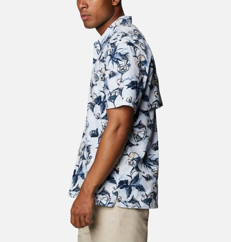 Trollers Best™ SS Shirt | 402 | XS Men's PFG Trollers Best™ Short Sleeve Shirt, Daydream Martini Marlin Print, a1