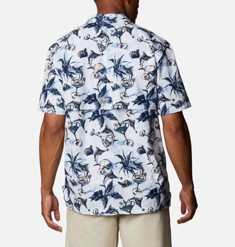 Trollers Best™ SS Shirt | 402 | XS Men's PFG Trollers Best™ Short Sleeve Shirt, Daydream Martini Marlin Print, back