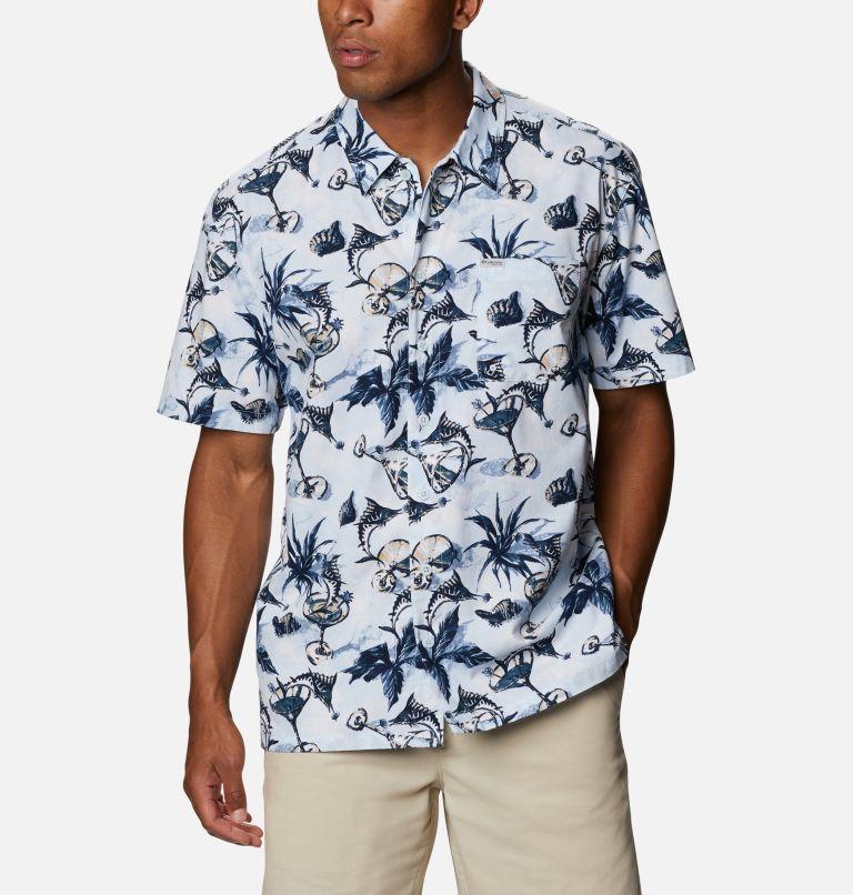 Trollers Best™ SS Shirt | 402 | L Men's PFG Trollers Best™ Short Sleeve Shirt, Daydream Martini Marlin Print, front