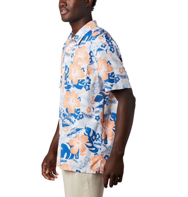 Trollers Best™ SS Shirt | 510 | XS Men's PFG Trollers Best™ Short Sleeve Shirt, Vivid Blue Katuna Vibes Print, a1