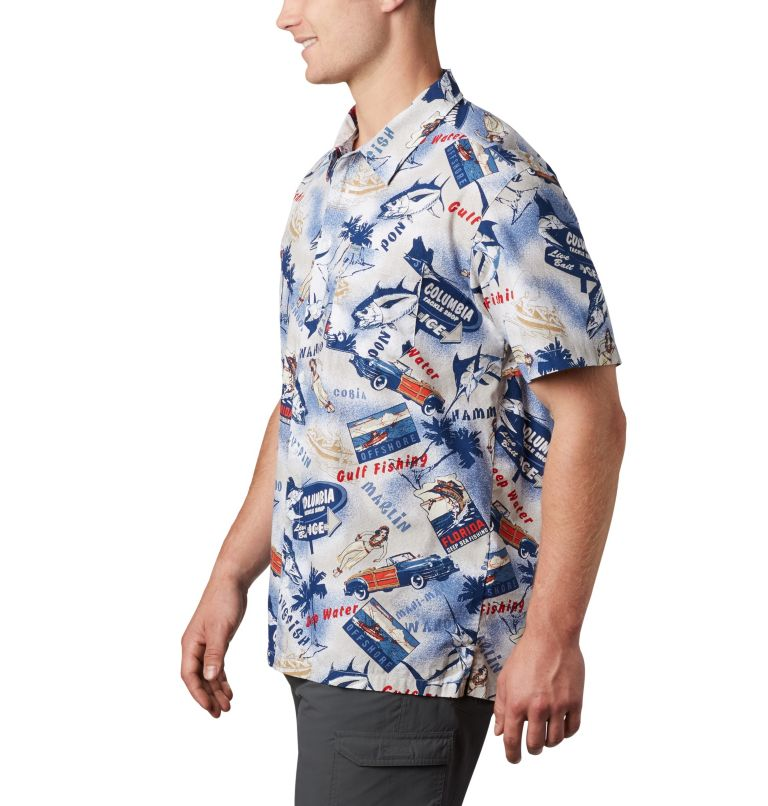 Trollers Best™ SS Shirt | 516 | XL Men's PFG Trollers Best™ Short Sleeve Shirt, Carbon Archive Print, a1