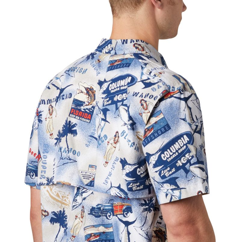 Trollers Best™ SS Shirt | 516 | XL Men's PFG Trollers Best™ Short Sleeve Shirt, Carbon Archive Print, a2