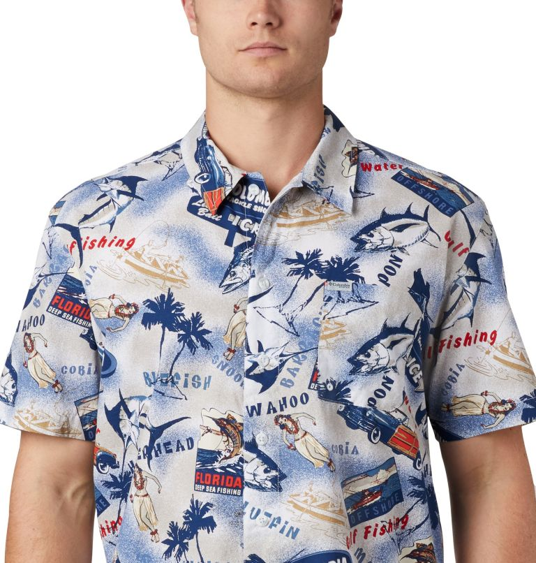Trollers Best™ SS Shirt | 516 | XL Men's PFG Trollers Best™ Short Sleeve Shirt, Carbon Archive Print, a3