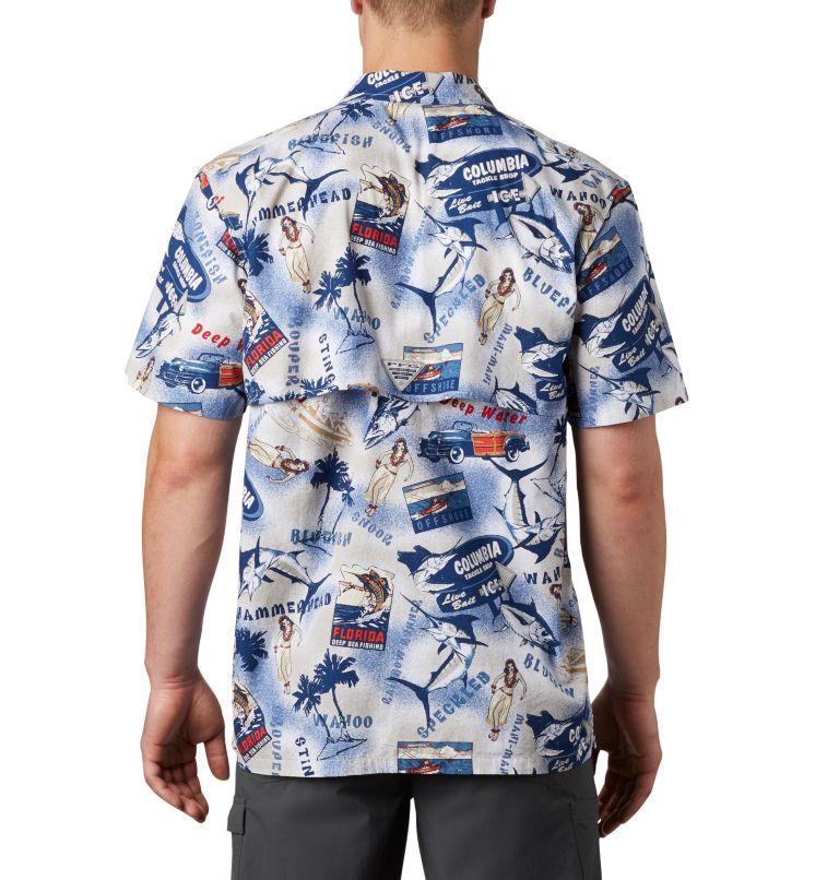 Trollers Best™ SS Shirt   516   M Men's PFG Trollers Best™ Short Sleeve Shirt, Carbon Archive Print, back