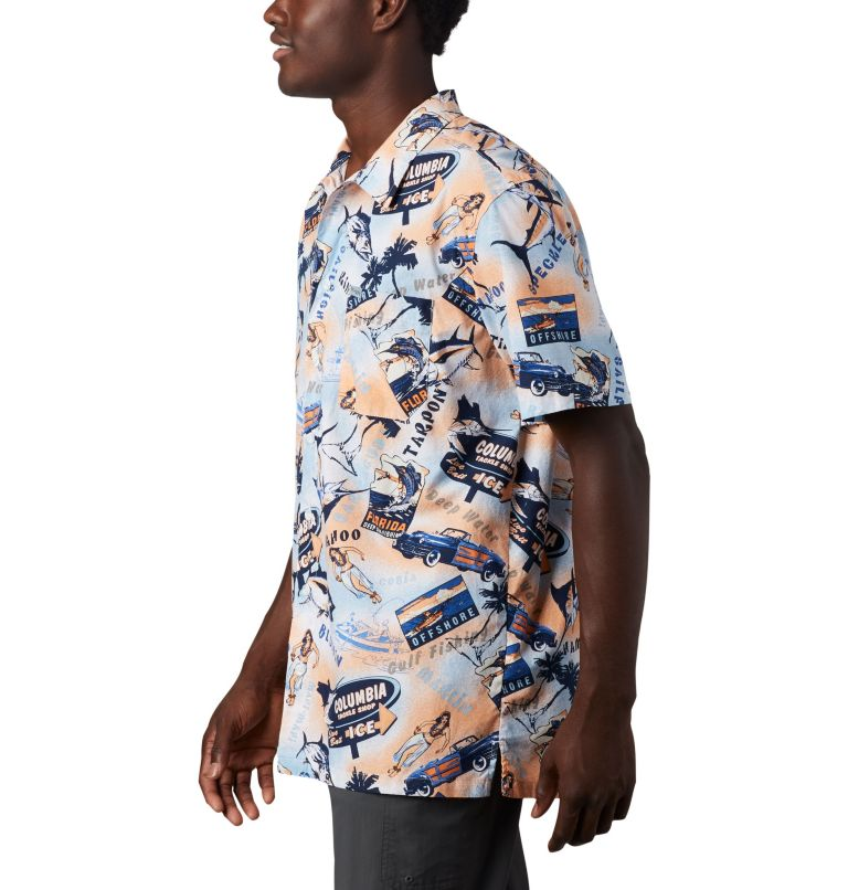 Trollers Best™ SS Shirt | 517 | XL Men's PFG Trollers Best™ Short Sleeve Shirt, Vivid Blue Archive Print, a1