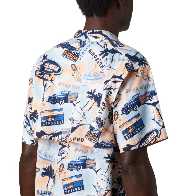 Trollers Best™ SS Shirt | 517 | XL Men's PFG Trollers Best™ Short Sleeve Shirt, Vivid Blue Archive Print, a3