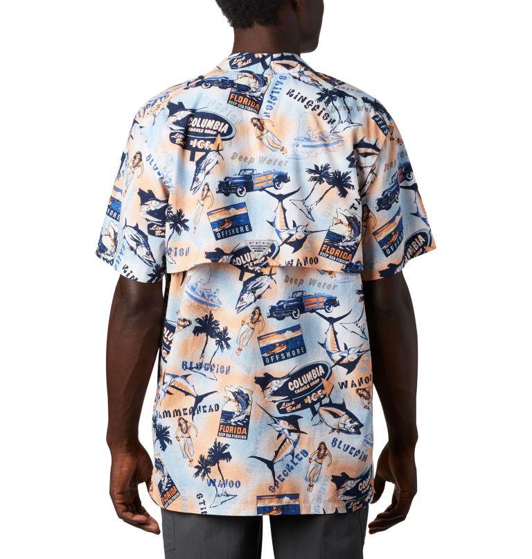 Trollers Best™ SS Shirt | 517 | XS Men's PFG Trollers Best™ Short Sleeve Shirt, Vivid Blue Archive Print, back