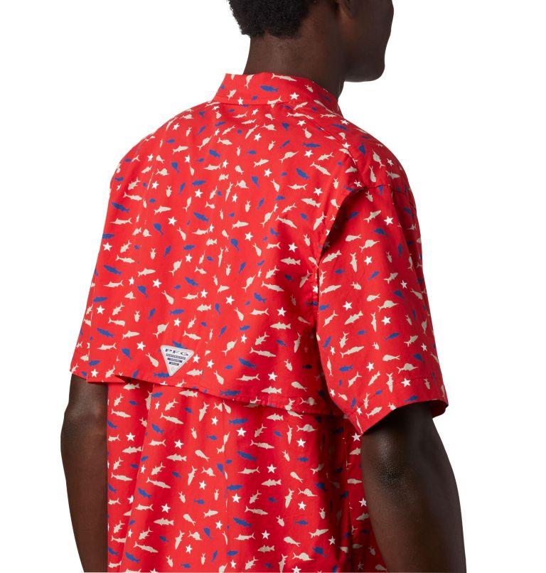 Trollers Best™ SS Shirt | 697 | L Men's PFG Trollers Best™ Short Sleeve Shirt, Red Spark Americana Print, a3