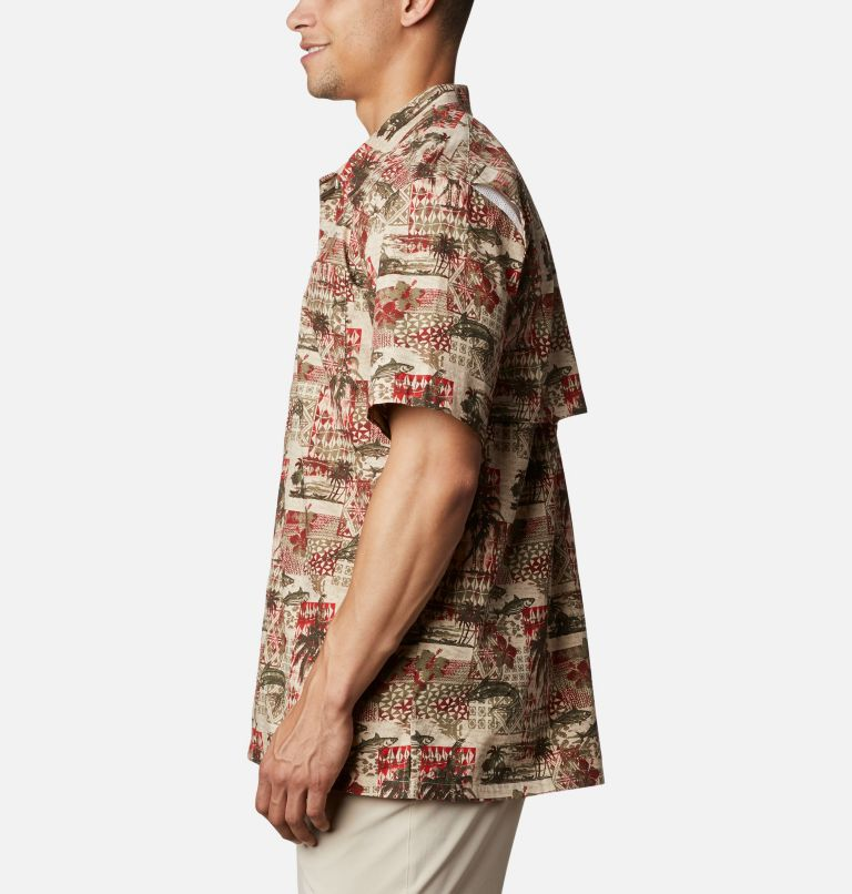 Trollers Best™ SS Shirt | 702 | L Men's PFG Trollers Best™ Short Sleeve Shirt, Red Spark Polynesian Print, a1