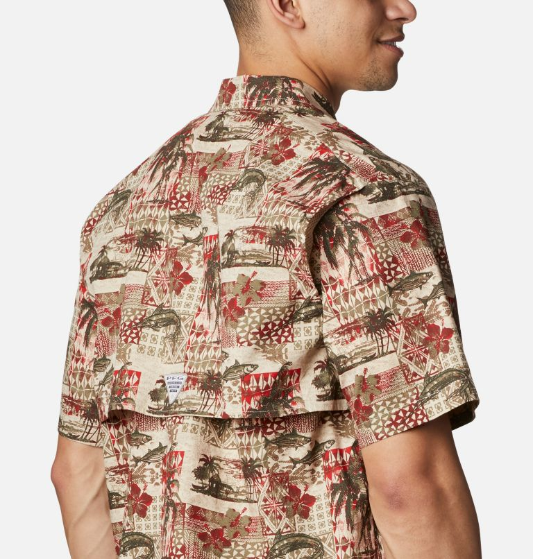 Trollers Best™ SS Shirt | 702 | L Men's PFG Trollers Best™ Short Sleeve Shirt, Red Spark Polynesian Print, a3