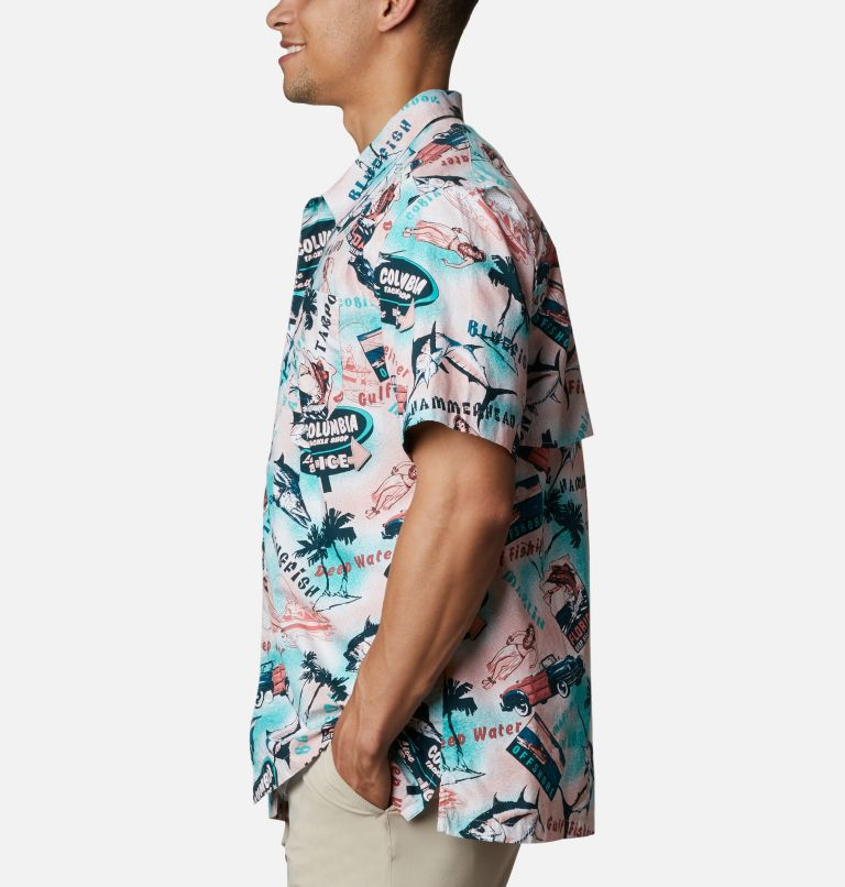 Trollers Best™ SS Shirt | 704 | L Men's PFG Trollers Best™ Short Sleeve Shirt, Salmon Offshore Archive Print, a1