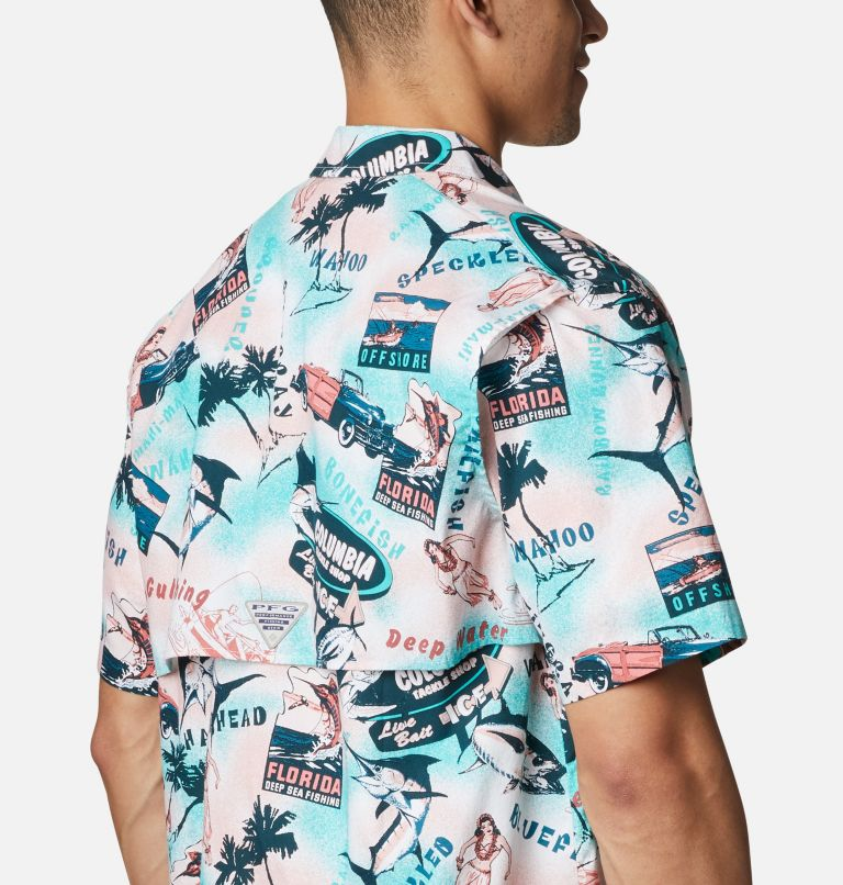 Trollers Best™ SS Shirt | 704 | L Men's PFG Trollers Best™ Short Sleeve Shirt, Salmon Offshore Archive Print, a3