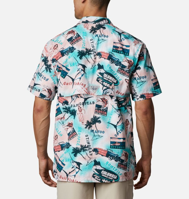 Trollers Best™ SS Shirt | 704 | M Men's PFG Trollers Best™ Short Sleeve Shirt, Salmon Offshore Archive Print, back