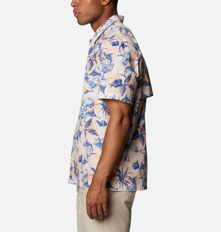 Trollers Best™ SS Shirt | 884 | XS Men's PFG Trollers Best™ Short Sleeve Shirt, King Crab Martini Marlin Print, a1