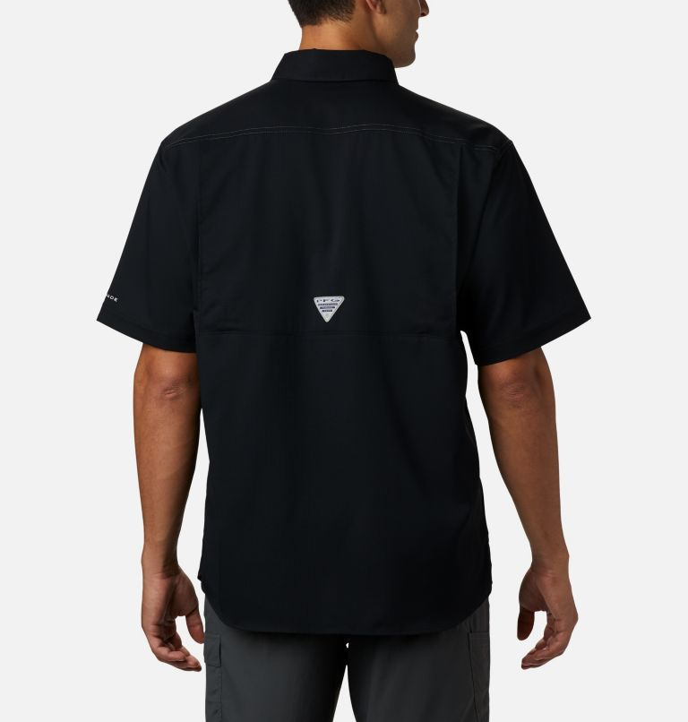 Low Drag Offshore™ SS Shirt | 010 | L Men's PFG Low Drag Offshore™ Short Sleeve Shirt, Black, back