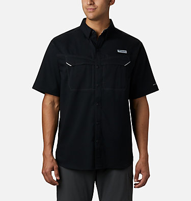 Men's PFG Low Drag Offshore™ Short Sleeve Shirt Low Drag Offshore™ SS Shirt | 967 | XS, Black, front