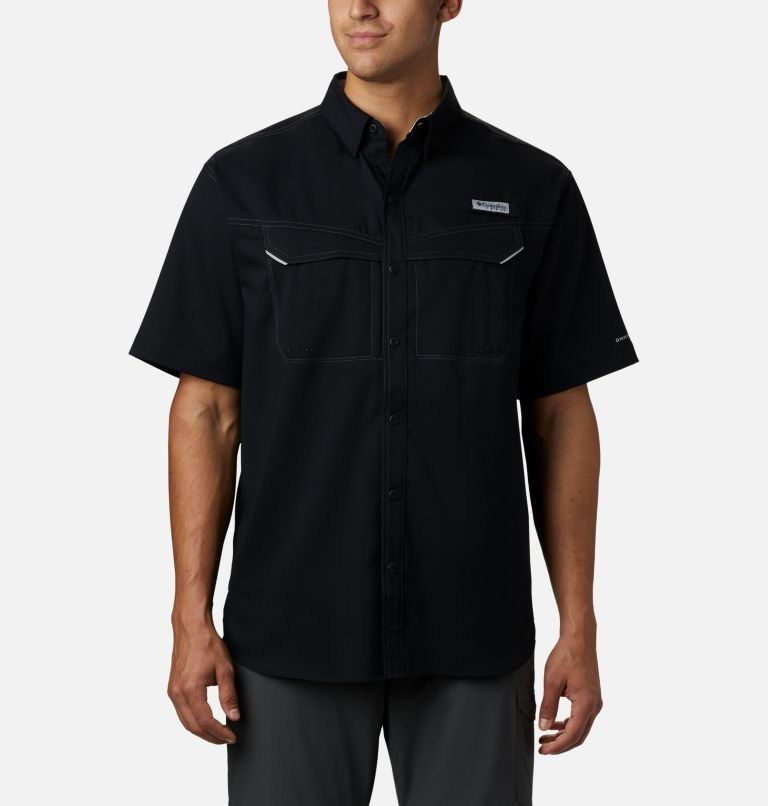 Low Drag Offshore™ SS Shirt   010   L Men's PFG Low Drag Offshore™ Short Sleeve Shirt, Black, front