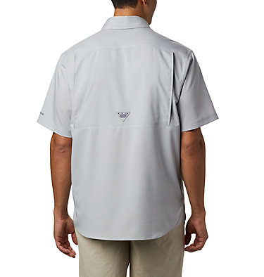 Men's PFG Low Drag Offshore™ Short Sleeve Shirt Low Drag Offshore™ SS Shirt | 967 | XS, Cool Grey, back