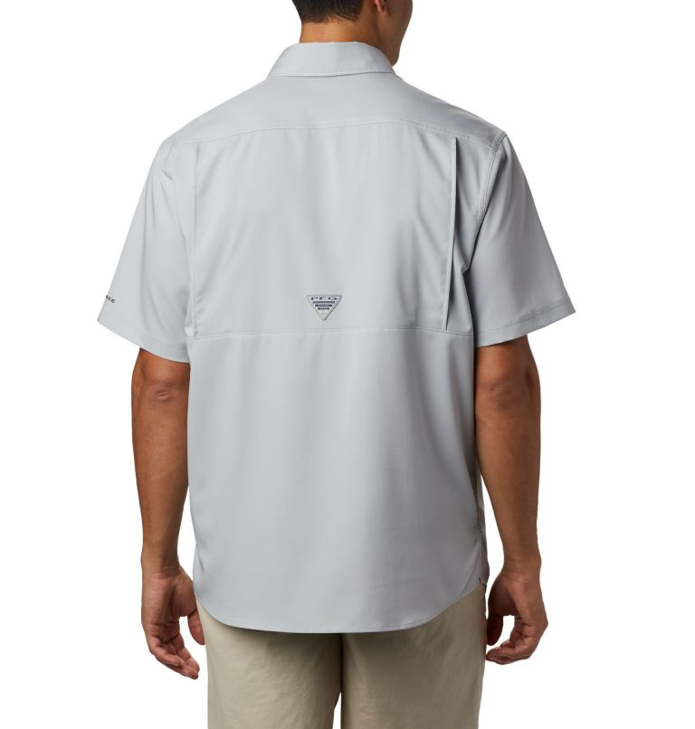 Low Drag Offshore™ SS Shirt | 019 | M Men's PFG Low Drag Offshore™ Short Sleeve Shirt, Cool Grey, back