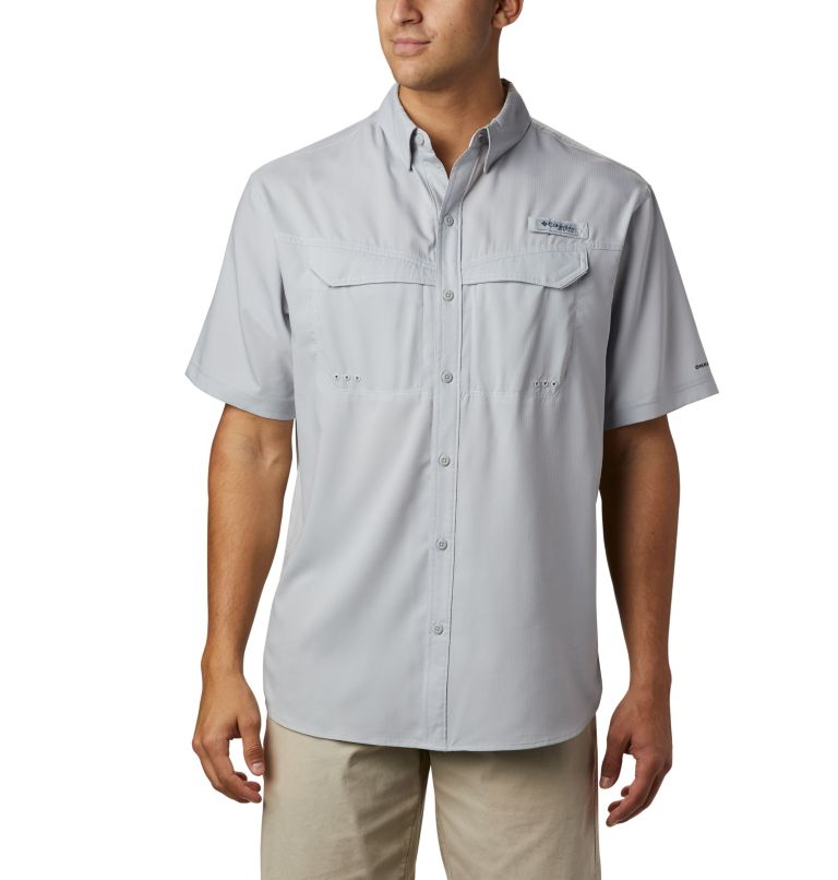 Low Drag Offshore™ SS Shirt | 019 | M Men's PFG Low Drag Offshore™ Short Sleeve Shirt, Cool Grey, front