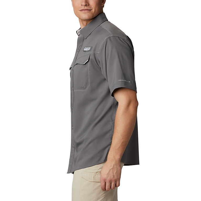 UPF 40 Protection Columbia Mens Low Drag Offshore Short Sleeve Shirt Sporting Goods 1540071 Moisture Wicking Fabric Columbia