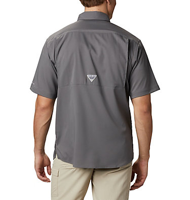 Men's PFG Low Drag Offshore™ Short Sleeve Shirt Low Drag Offshore™ SS Shirt | 967 | XS, City Grey, back