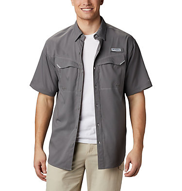 Men's PFG Low Drag Offshore™ Short Sleeve Shirt Low Drag Offshore™ SS Shirt | 967 | XS, City Grey, front