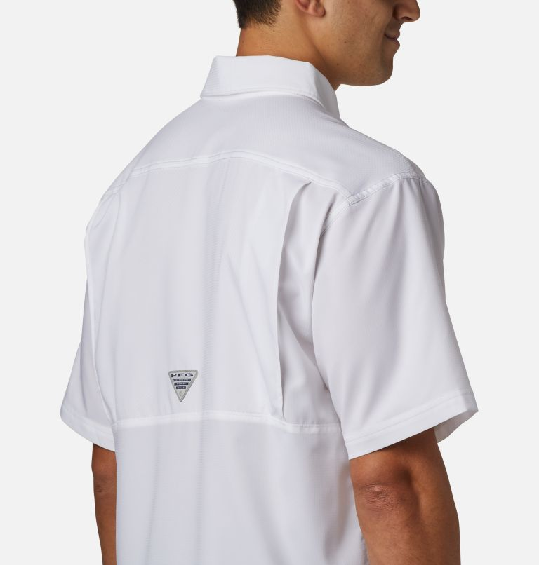 Low Drag Offshore™ SS Shirt | 100 | L Men's PFG Low Drag Offshore™ Short Sleeve Shirt, White, a2