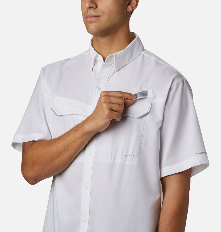 Low Drag Offshore™ SS Shirt | 100 | L Men's PFG Low Drag Offshore™ Short Sleeve Shirt, White, a3
