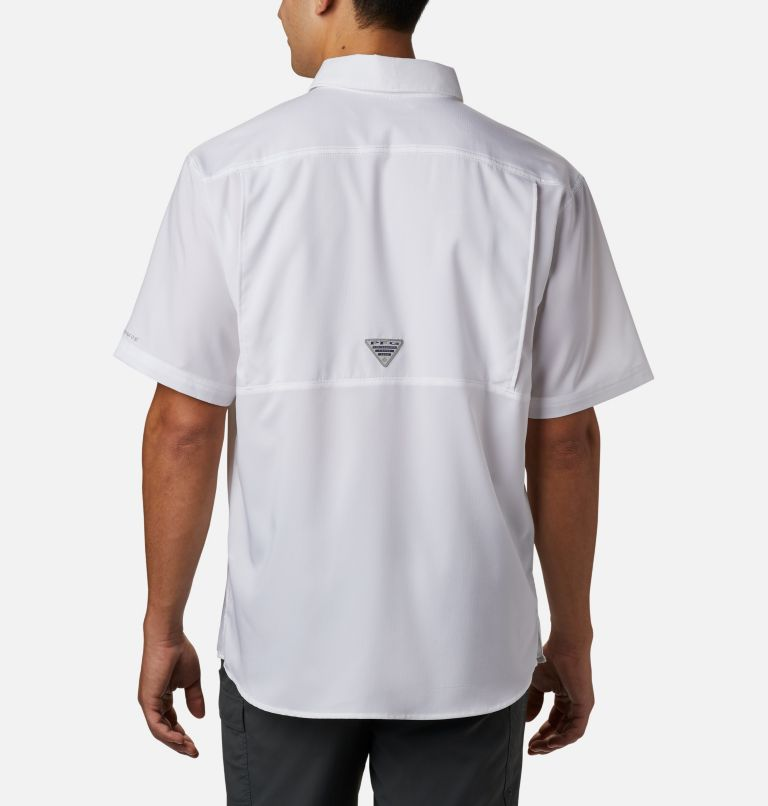 Low Drag Offshore™ SS Shirt | 100 | L Men's PFG Low Drag Offshore™ Short Sleeve Shirt, White, back