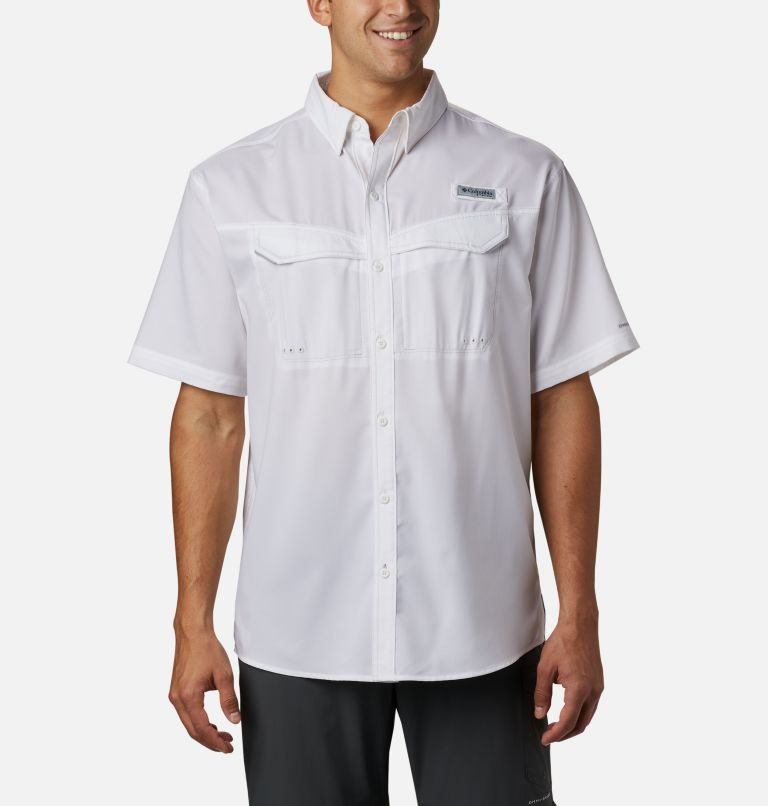 Low Drag Offshore™ SS Shirt | 100 | L Men's PFG Low Drag Offshore™ Short Sleeve Shirt, White, front