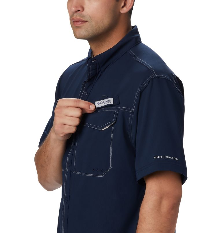 Low Drag Offshore™ SS Shirt | 464 | L Men's PFG Low Drag Offshore™ Short Sleeve Shirt, Collegiate Navy, a3