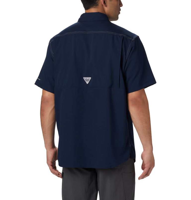 Low Drag Offshore™ SS Shirt | 464 | L Men's PFG Low Drag Offshore™ Short Sleeve Shirt, Collegiate Navy, back