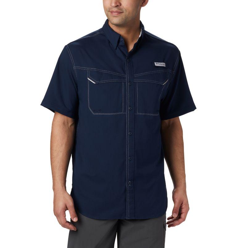 Low Drag Offshore™ SS Shirt | 464 | L Men's PFG Low Drag Offshore™ Short Sleeve Shirt, Collegiate Navy, front