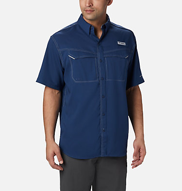 Men's PFG Low Drag Offshore™ Short Sleeve Shirt Low Drag Offshore™ SS Shirt | 967 | XS, Carbon, front