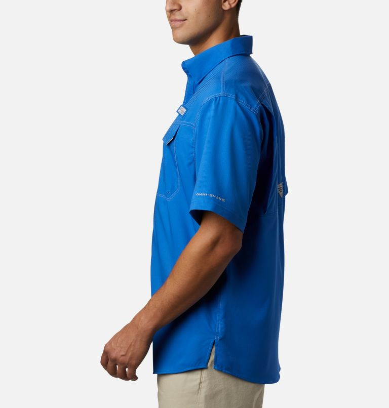 Low Drag Offshore™ SS Shirt | 487 | L Men's PFG Low Drag Offshore™ Short Sleeve Shirt, Vivid Blue, a1