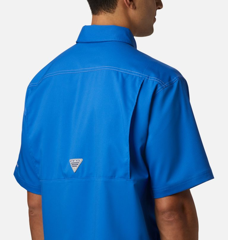 Low Drag Offshore™ SS Shirt | 487 | L Men's PFG Low Drag Offshore™ Short Sleeve Shirt, Vivid Blue, a2